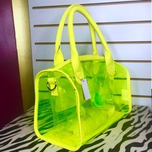 High Neon Yellow Medium Handbag